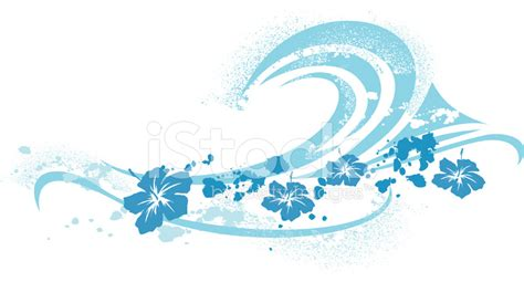 best photos of wave symbol vector graphics surfing wave symbol and hibiscus stock vector freeimages