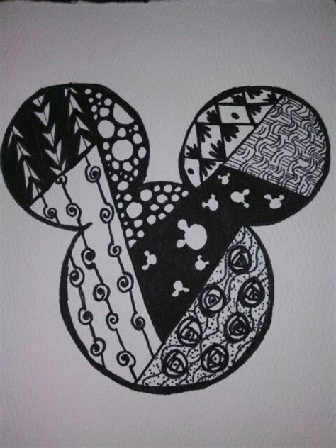 doodle mouse city mickey zentangle doodle i did this