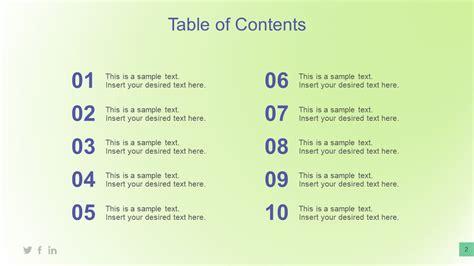 table  content   slidemodel