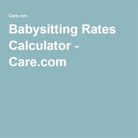 1000 ideas about rates on babysitting baby sitting and printable
