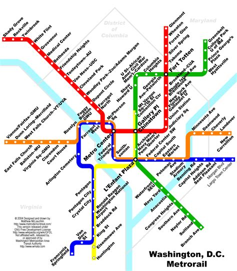 washington dc map subway washington metro rail