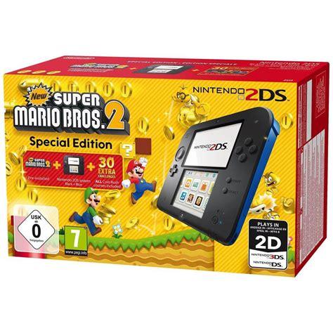 nintendo 2ds console nintendo 2ds bleue new mario bros 2