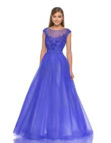 a line tulle applique cap sleeve floor length ball dress