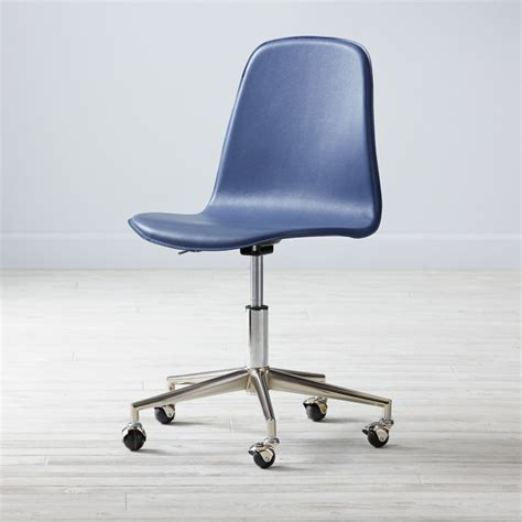 class act blue silver desk chair the land of nod