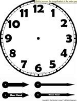 clock templates for telling time time worksheets