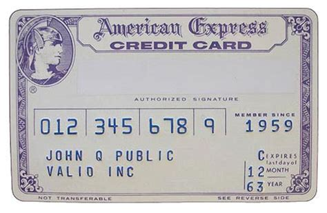 american express card number template american express card 1963