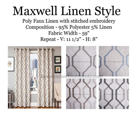 maxwell curtains maxwell linen curtains modern or vintage deco style