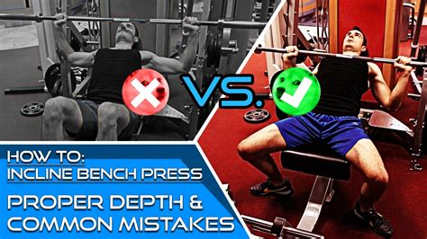 how to do a bench press properly how to incline bench press use proper form to avoid