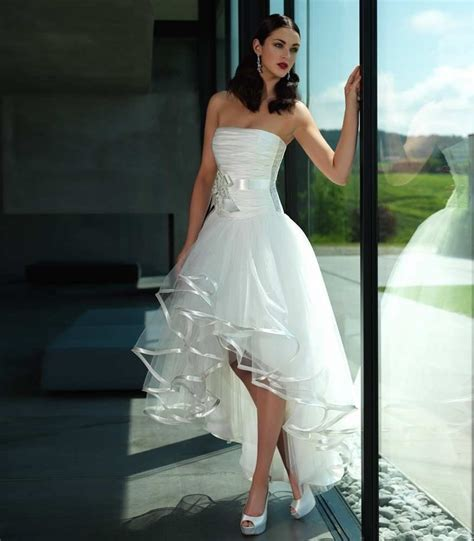 short  front long   wedding dresses short