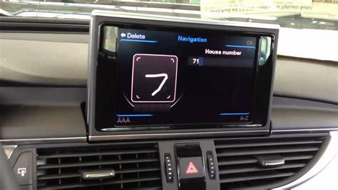 Audi A6 Navigation System by New Audi A6 Navigation Demo Youtube