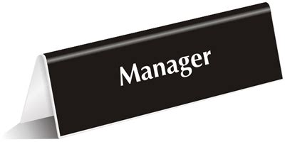 Manager Door Sign by Manager Room Signs Building Manager Signs