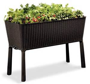 new large plastic raised garden bed keter 45 quot x 19