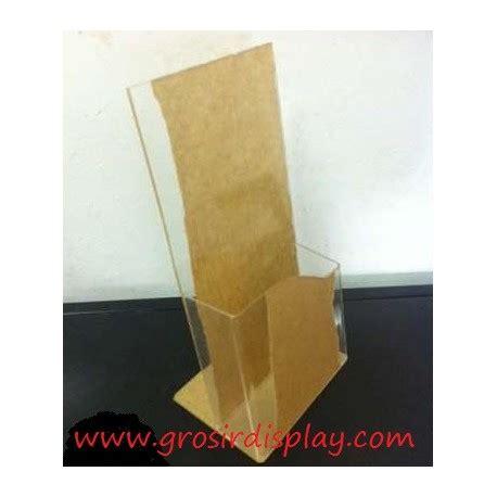 Rak Hanger Kantong Plastik Tempat Sah akrilik tempat brosur kecil tinggi kantong rak kertas promo tebal grosir display