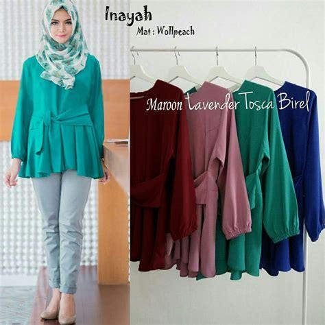 Baju Wanita Baju Muslim Wanita Atasan Blouse Venita Blouse baju gamis modern nemo
