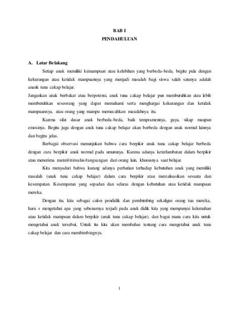 format skripsi psikologi makalah psikologi pendidikan anak berkebutuhan khusus abk