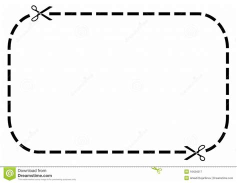 blank coupon clipart kid dotted line border clip art panda