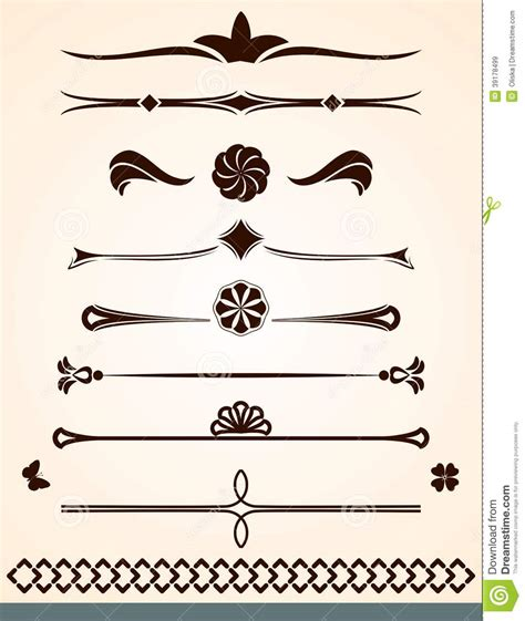 text dividers  decorations stock vector image