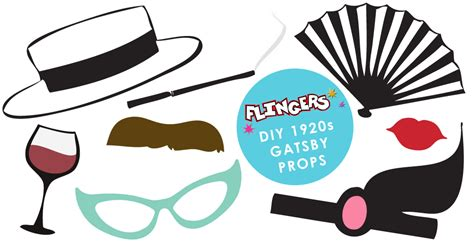 printable gatsby photo booth props flingers party shop blog free gatsby photobooth prop box