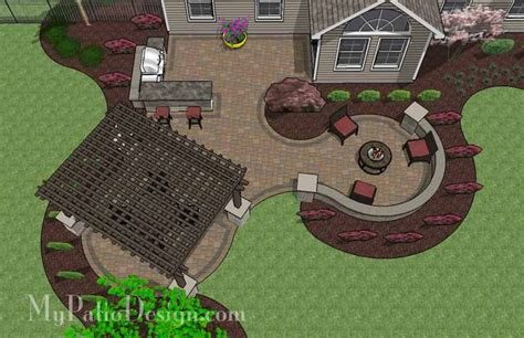 large patio design ideas large paver patio design with pergola plan no 1156rr