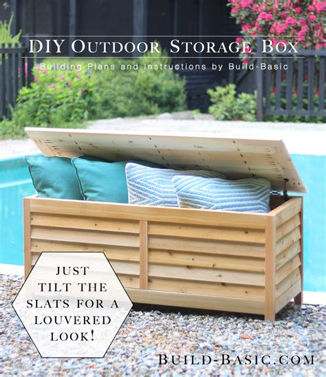 build  diy outdoor storage box build basic