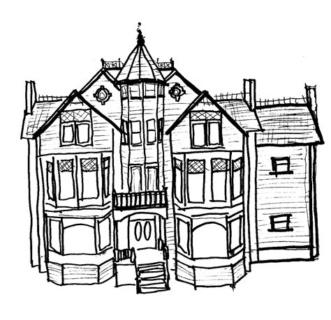 Mansion Coloring Pages mansion coloring pages