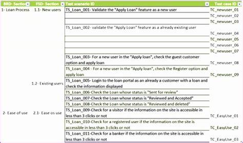 test objective matrix template 12 test cases excel template exceltemplates exceltemplates