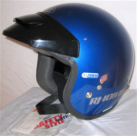 Helm Shoei Retro vintage helmets shoei rj101v cobalt blue