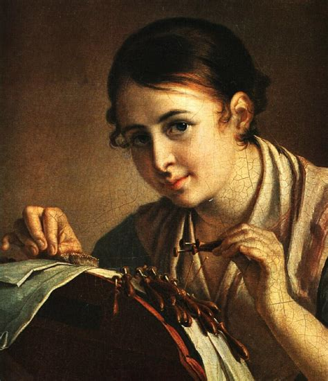 the lacemaker the lacemaker vasily tropinin wikiart org