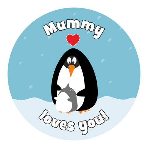 Stiker Pinguin mummy and penguin stickers praise stickers