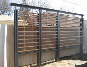 Metal Garden Screen Trellis Metal And Wood Slat Modern Trellis Exterior Improvements