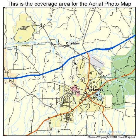 map of tuskegee alabama aerial photography map of tuskegee al alabama