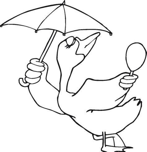 umbrella bird coloring page animals town animals color