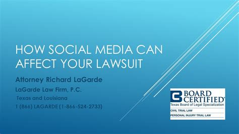 How Social Media Can Help Or Hurt Your Search How Social Media Can Affect Your Lawsuit