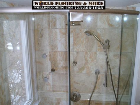 Custom Cultured Marble Shower Mosaic Tile Power Jet Jet Showers Bathroom