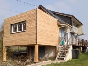 extension ossature bois sur pilotis plancher easi joist
