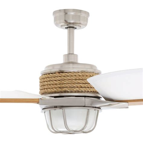 escape 68 in brushed nickel indoor outdoor ceiling fan hton bay 34314 escape 68 in brushed nickel indoor