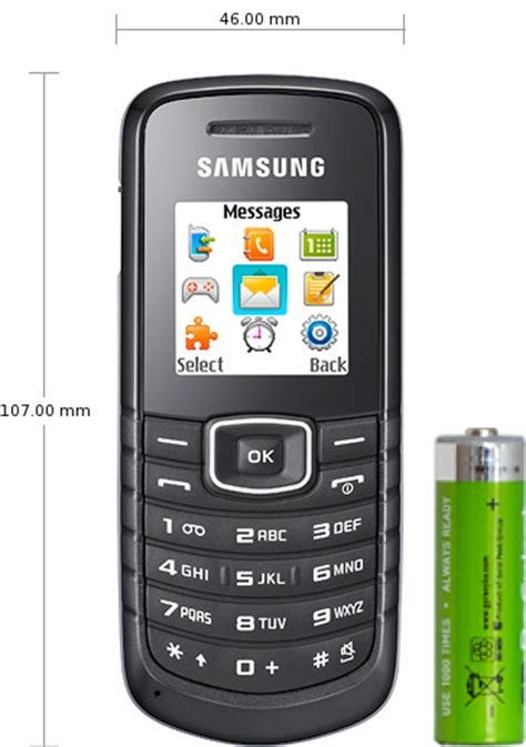 Battery Samsung E1080 By Ekaponsel samsung e1080 specifications and reviews