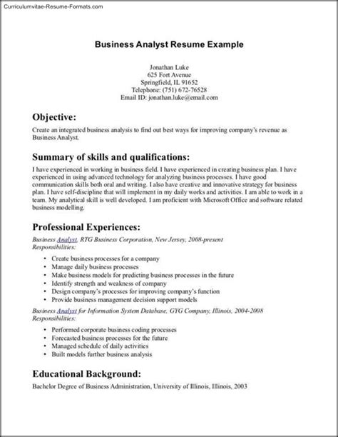 Resume Sles For Bba Graduates Business Administration Resume Template Free Sles Exles Format Resume Curruculum
