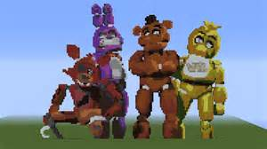 Five nights at freddy animatronics made by maximun9