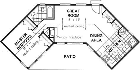 Ranch Style House Plans   768 Square Foot Home , 1 Story