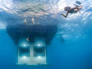 bedroom under water dr augustine fou s online scrapbook step inside africa s first underwater hotel room