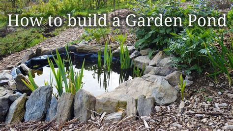 how to build a small garden pond