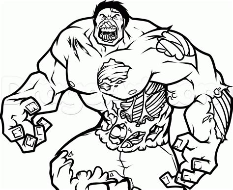 Coloring Pages Of Marvel Zombies | zombie hulk colouring pages 4824 marvel zombies coloring