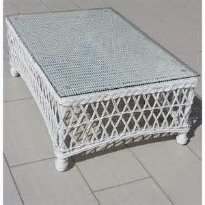 white resin patio table everglades white resin wicker patio coffee table by