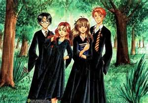 harry potter images harry ginny and hermione hd