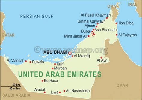 united arab emirates map map of united arab emirates5 citiestips