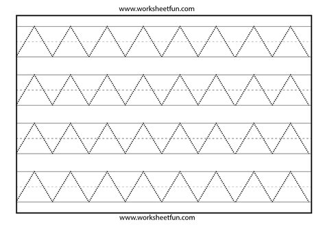 pre writing pattern sheets zig zag line tracing preschool worksheets pinterest
