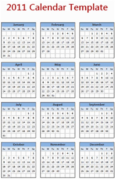 2011 calendar template all articles on offset chandoo org learn microsoft