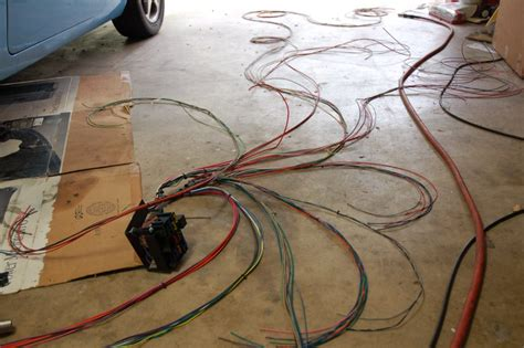 in our garage installing a new wiring harness hemmings