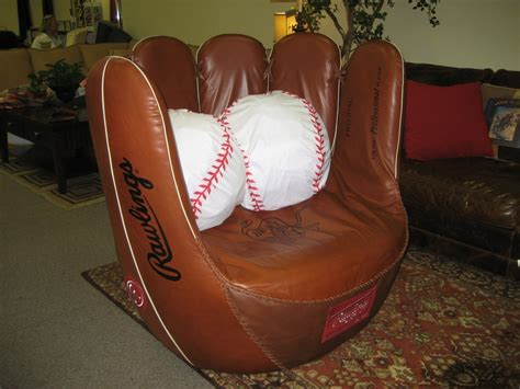 Rawlings Baseball Chair by Custom Baseball Glove Swivel Chair Valley Leather